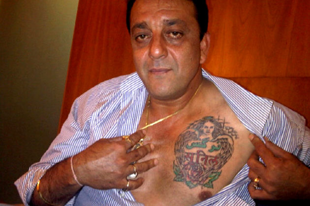 Why is Sanjay Dutt called the king of tattoos in Bollywood ...