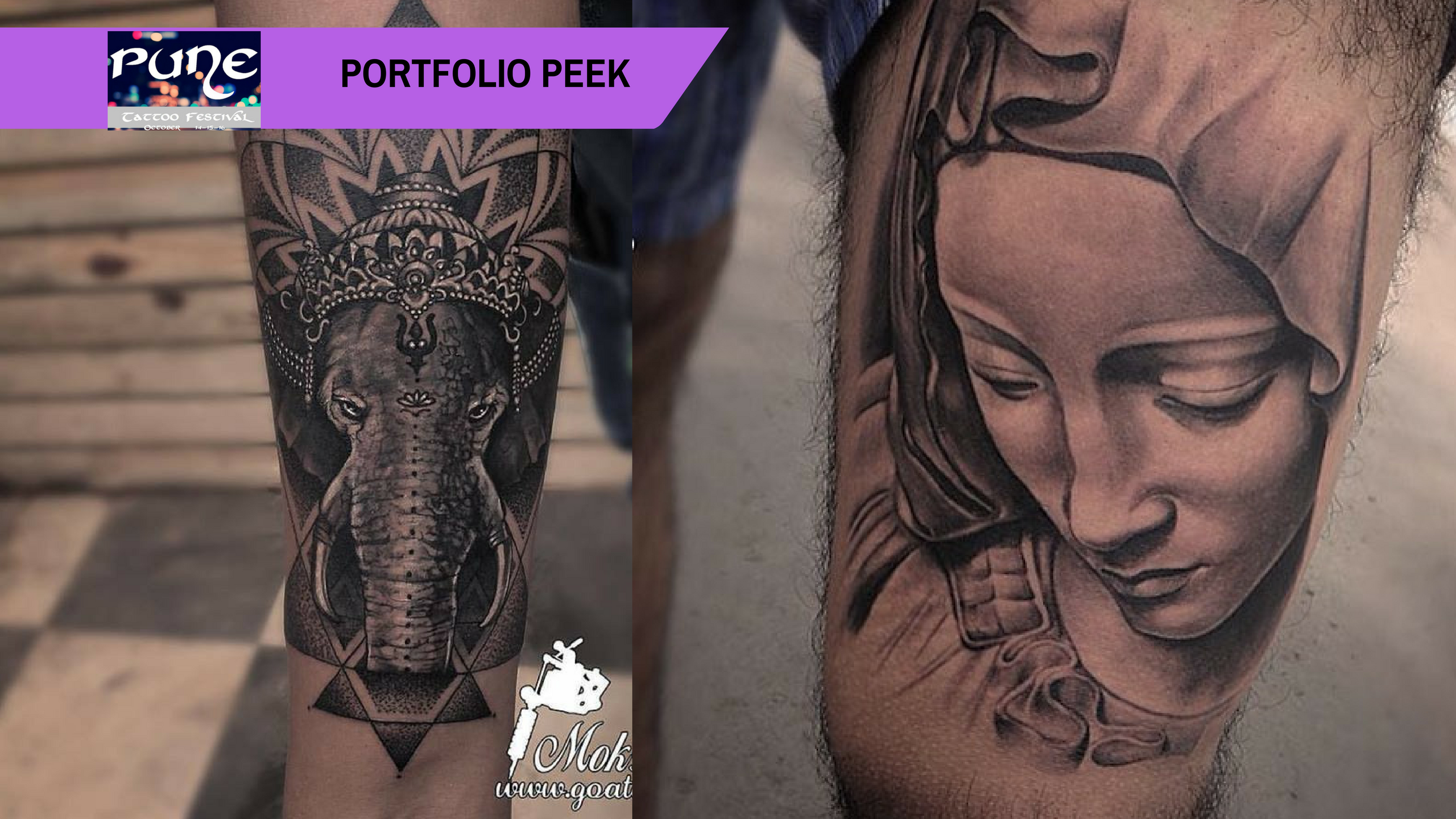 Pune Tattoo Fest Portfolio Peek: Mukesh Waghela's modern approach to traditional elements
