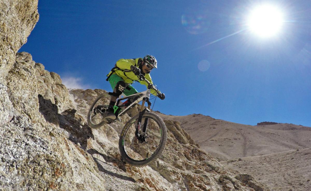 Vinay Menon riding in Leh