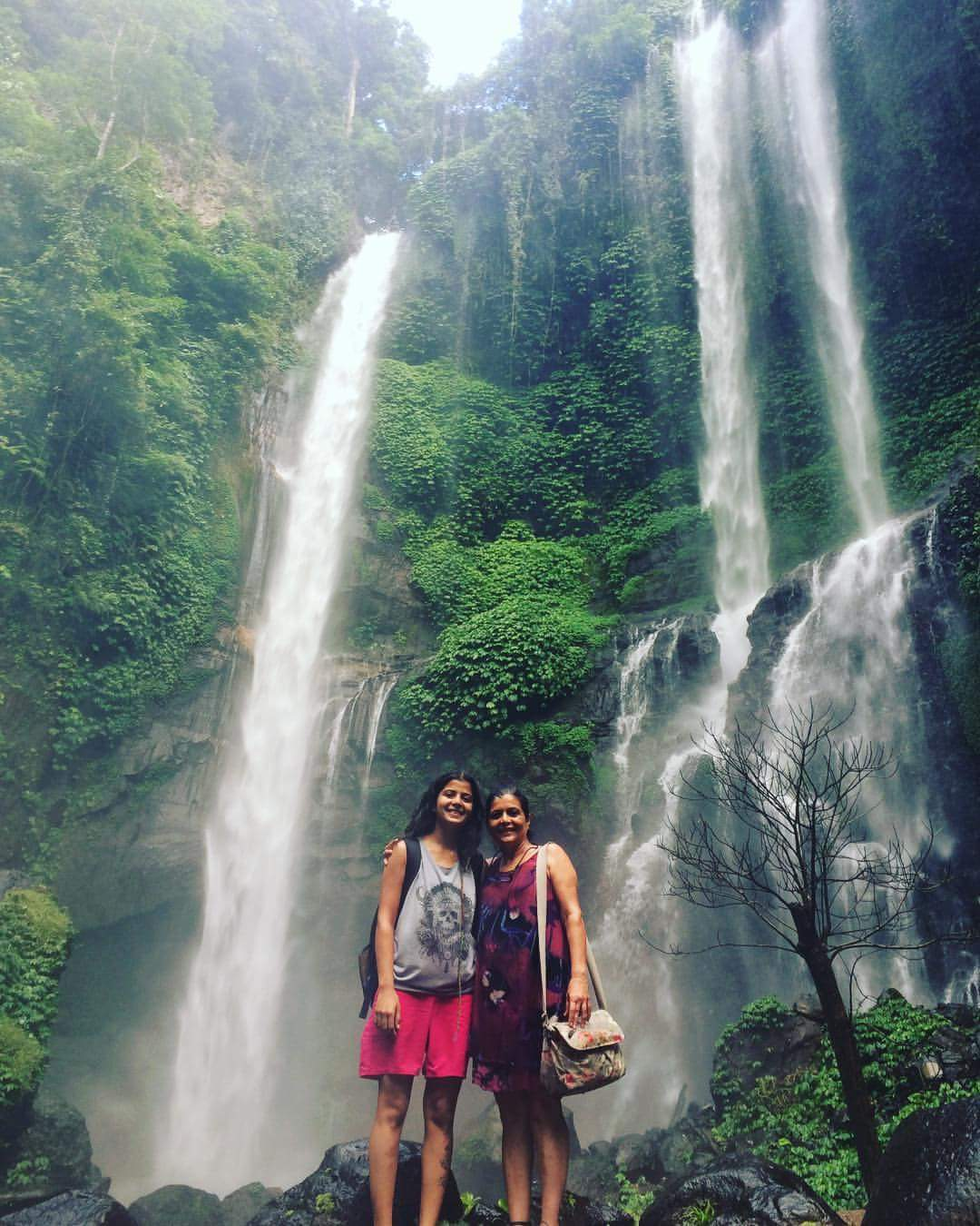 Siddhi and mother Harsha Shah in Bali