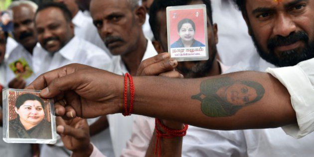 Jayalalitha tattoo