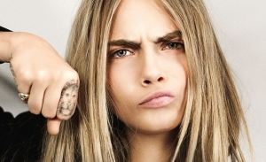 Cara Delevigne's lion tattoo