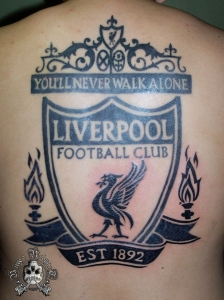 Liverpool FC (full back tattoo)