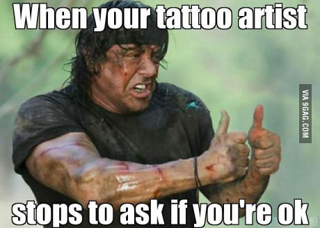 tattoo pain meme